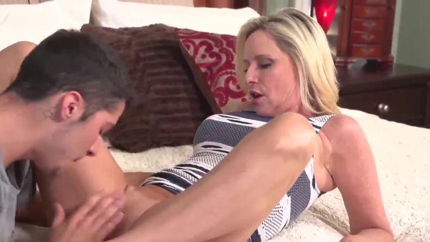Stepmom Shares Bed Stepson