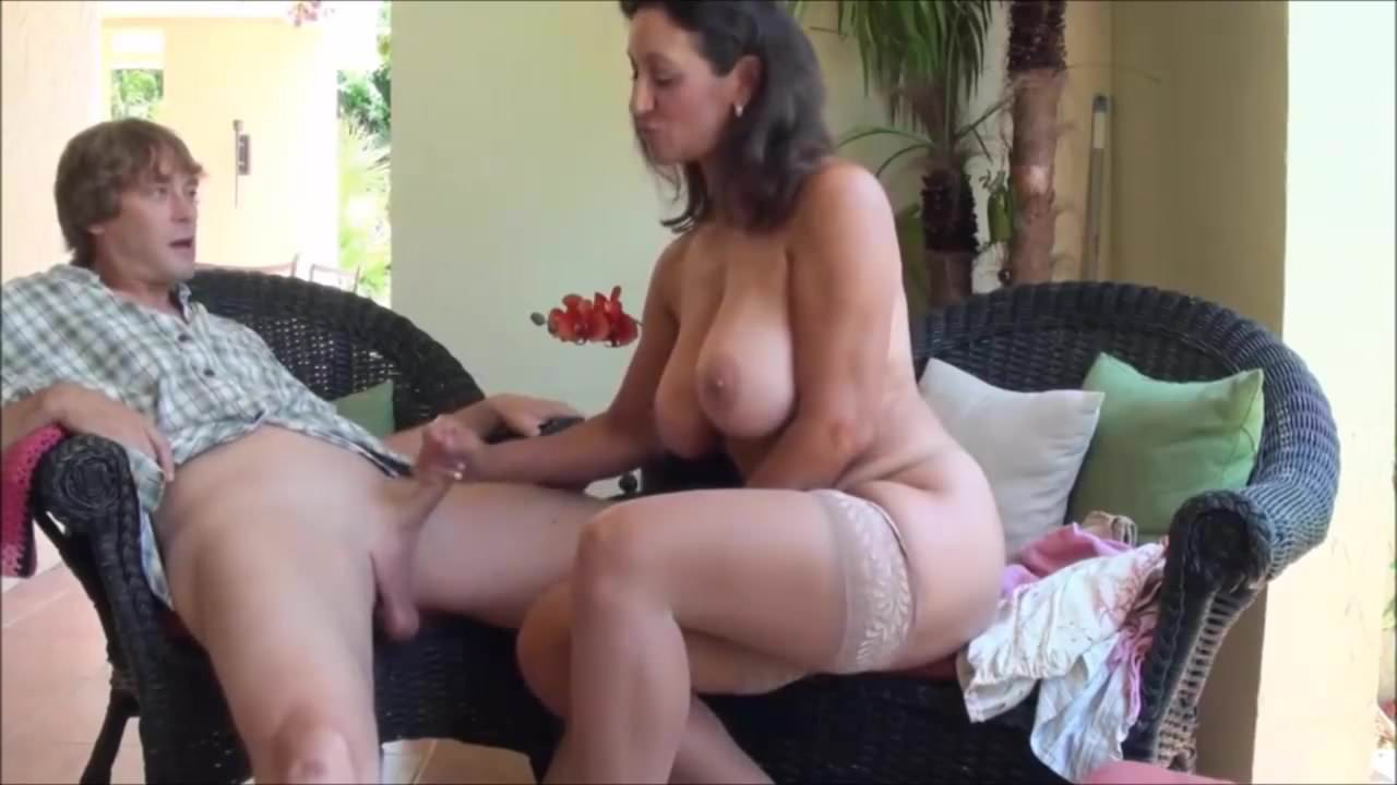 Girl Gives First Handjob