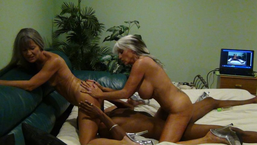 Mature Blondes Riding A Big Black Cock On The Bed
