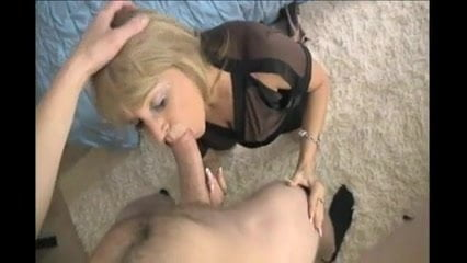 Blonde milf housewife passionate blowjob 3000